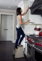 Simplay3 Handy Home Step Stool has two sturdy steps for just out of reach places in kitchens, bathrooms, bedrooms, offices, and garages.