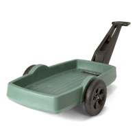 The new Simplay3 Easy Haul Flat Bed Cart yard and garden wagon is extremely versatile due to the carefully engineered placement of the axle allowing for even weight distribution, optimal balance, excellent maneuverability and maximum load capacity.