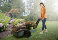 Simplay3 Easy Haul Flat Bed Cart is easy to haul bags of soil, mulch, or plants.