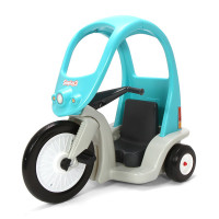 Simplay3 Super Coupe Pedal Trike with sturdy high arching oval roof creates a safe, spacious, and cozy driver environment for children.  3 position seat offers extra room for growth.