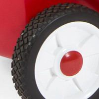 Simplay3 High Back Wagon includes deluxe features like durable, deep tread rubber tires for quiet rides.