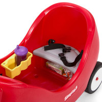 Simplay3 High Back Wagon includes toddler friendly features with two drink holders and storage beneath the seats.