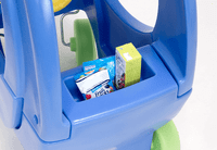 Simplay3 Elly Coupe for toddlers features a rear storage compartment for snacks and drinks.