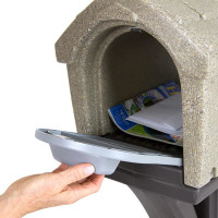 Simplay3 StyleMaster Classic Homestyle Mailbox with easy grip front and rear mailbox doors holds standard mail, catalogs, and small packages, and meets USPS standards for traditional and contemporary mailbox designs.