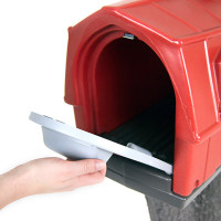 Simplay3 Rustic Barn Mailbox holds standard mail, catalogs, and small packages, and meets USPS standards for traditional and contemporary mailbox designs.