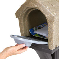 Simplay3 Rustic Home Mailbox holds standard mail, catalogs, and small packages, and meets USPS standards for traditional and contemporary mailbox designs.