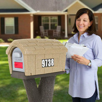 Simplay3 Rustic Home Mailbox with rural, natural styling blends with the outdoors.