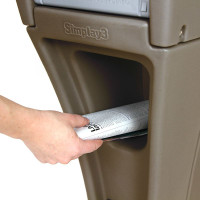 Simplay3 Silhouette heavy duty mailbox with convenient front and rear access newspaper holder.