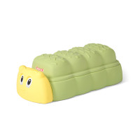 Simplay3 Caterpillar Sandbox removable cover keeps sand dry or children's toys out of sight.