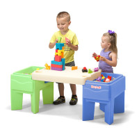 Simplay3 In & Out Activity Table configured as children's build and store play table.