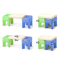 Simplay3 In & Out Activity Table - Expand, compact, and flip to create 4 play patterns for children from sand and water to arts and crafts.
