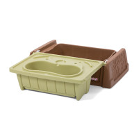 Simplay3 Sand and Water Bench is a practical patio or deck storage box for pool toys, blocks, balls, trains, or cars.