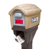 Simplay3 Classic Home Plus Mailbox with newspaper holder is designed with mail flag in the front mailbox door.