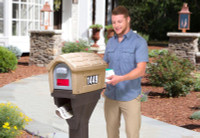 Simplay3 Classic Home Plus Mailbox with newspaper holder has convenient rear access for easy and safe retrieval of mail, catalogs, small packages, and newspapers.