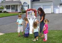 Simplay3 Sharing Library can be mounted to a new or existing 4 x 4 post and is easy to install outside of your home.