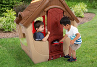 Simplay3 Garden View Cottage for kids with chimney pizza oven.