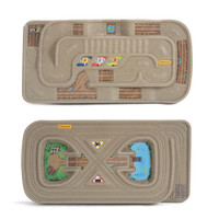 Simplay3 Carry & Go Track Table 2 sided train and racetrack table toy for kids.