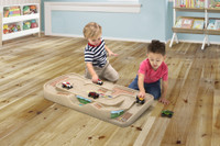 Simplay3 Carry & Go Track Table kids race car track toy for wooden trains.