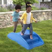 Simplay3 Rocking Bridge has a double-wall plastic construction and is weather resistant.