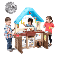 Simplay3 Garden View Kitchen with kids actively at play