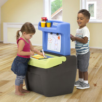 Simplay3 Toy Box Easel is the perfect space for imaginative play.