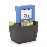 Simplay3 Toy Box Easel has an extra wide storage pocket to paper, coloring books, and art supplies.