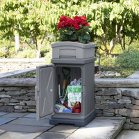 Simplay3 Hide Away Parcel Box with Planter as a garden tool storage box