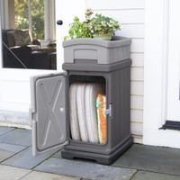 Simplay3 Hide Away Parcel Box with Planter as a patio storage box for patio furniture cushions