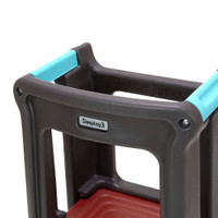 Simplay3 Toddler Tower Adjustable Stool has visible safety handles