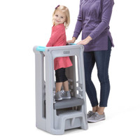 Simplay3 Toddler Tower Adjustable Stool in Gray