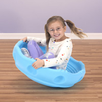 Simplay3 Rock Around Wobble Disk for children is a 360 degree rock, wobble, and spin saucer toy