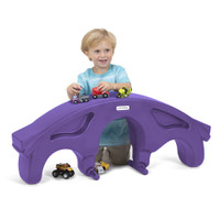 Simplay3 Rock & Roll Teeter Totter flipped over as a toy bridge