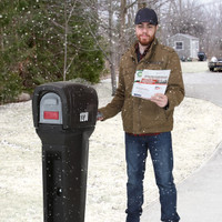 Simplay3 Tough Mailbox in use - Winter