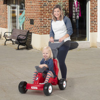 Simplay3 Fold & Go Rally Racer in use with mom and child out and about.