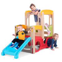 Simplay3 Young Explorers Adventure Climber with blue slide