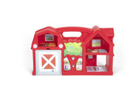 Simplay3 Carry & Go Farm features several rooms for pretend play.