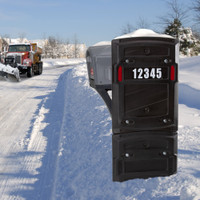 The Simplay3 Total Defense Mailbox Shield protects your mailbox from vandals year round, or from heavy snow, ice, and salt pushed off the road from snow plows during the winter months.