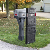 """Simplay3 Total Defense Mailbox Shield heavy duty barrier design is just under 3"""" thick and made in the USA."""
