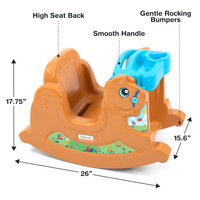 Simplay3 Rock Away Pony is designed with safety in mind featuring high back seat, wide grip handle, and end rail stoppers to keep rocking motion controlled