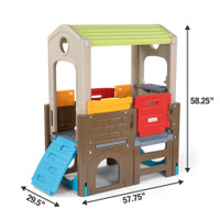 Young Explorers Adventure Clubhouse dimensions.