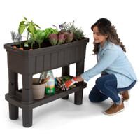 Raised Patio Garden with Storage