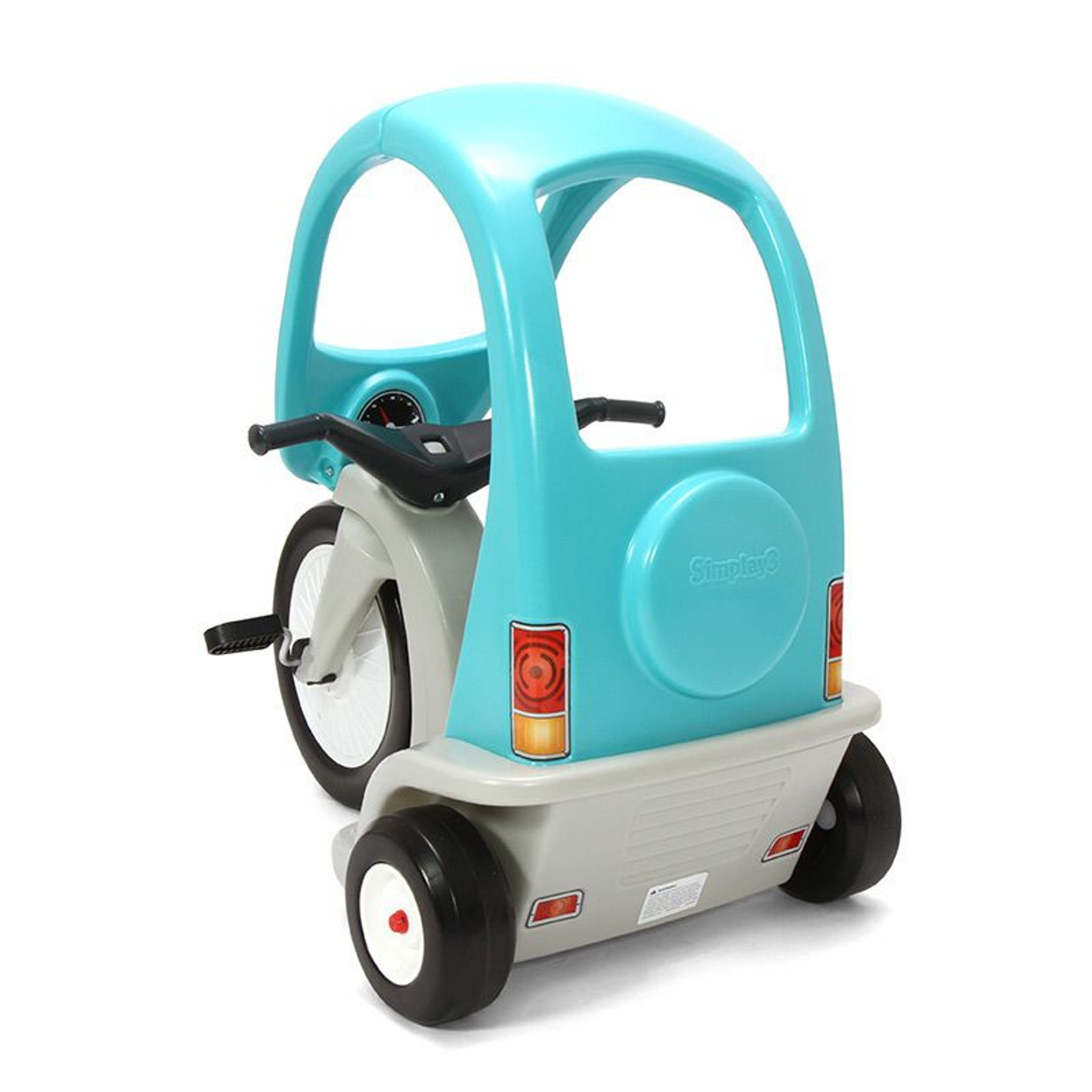 Simplay3 Kids Super Coupe Pedal Car w// Roof and 3-Position Seat