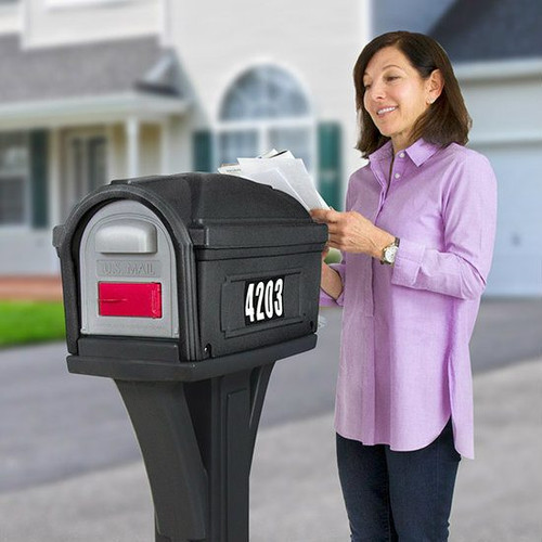 Designed by the original creators of the durable all-in-one plastic mailbox and post, the NEW Simplay3 Classic Mailbox features both front and rear mail access doors for easy and safe retrieval of mail - Built to last and made in the USA.