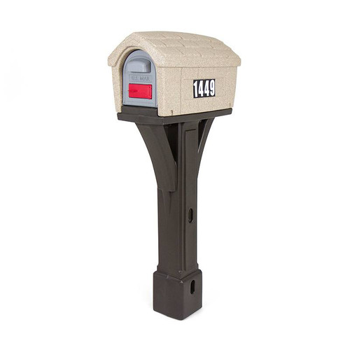 Simplay3 Classic Home Mailbox is available in washed stone mailbox top with espresso post or gray stone mailbox top with black post - traditional yet rural styling that will complement any home.  Built to last and made in the USA.