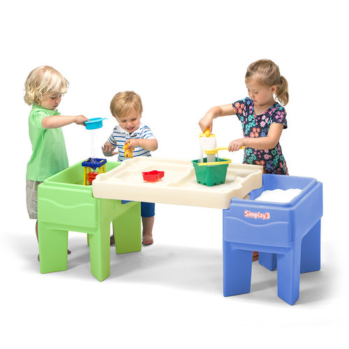 Simplay3 In & Out Activity Table configured as a sand and water kids activity table.