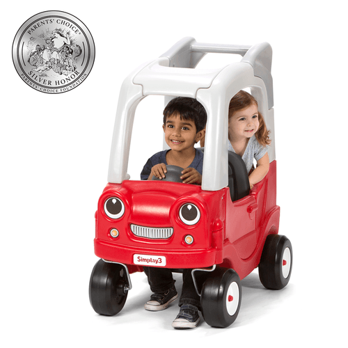 Simplay3 My Buddy & Me SUV features a drop down tailgate seat for extra fun for 2 children.