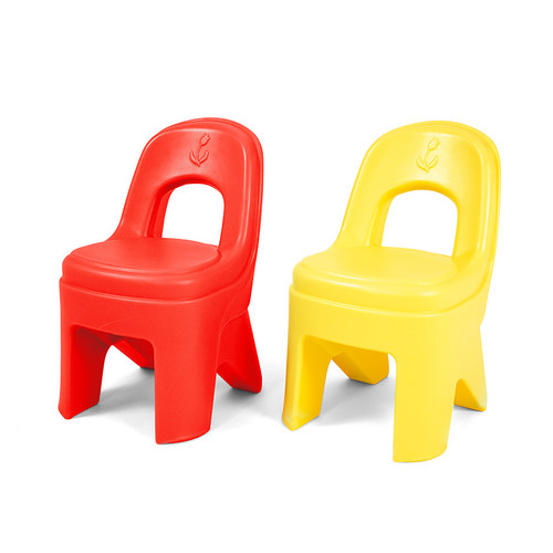 Simplay3 Play Around Chairs are durable, sturdy and easy to carry.  Hot tamale and lemon colors complement the Simplay3 Play Around Kitchen and Activity Center.