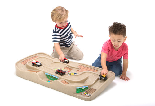 Simplay3 Carry & Go Track Table off road motocross racetrack table toy for kids.