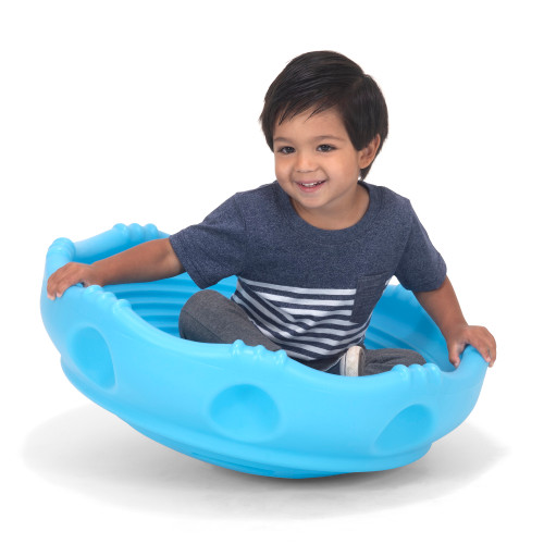 Simplay3 Rock Around Wobble Disk toy saucer for children 2 years & up rocks, wobbles, and spins 360 degrees