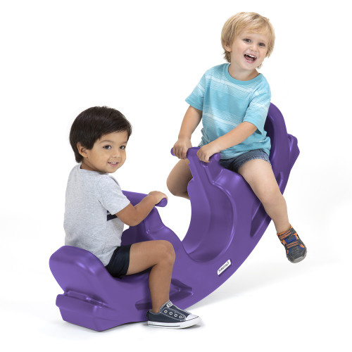 Simplay3 Rock & Roll Teeter Totter with two children rocking